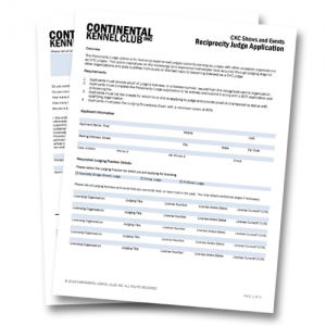 CKC Reciprocity Judge Application Fee
