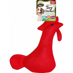 Soft-Bite Chicken Dog Toy