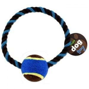 Tennis Ball Rope Ring Toy