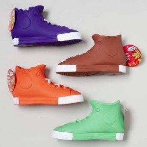 High-Top Sneaker Dog Toy