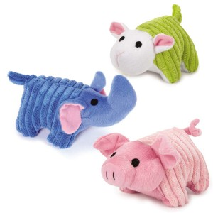 Zanies Corduroy Assorted Dog Toys