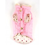 Reversible Pink Puff Vest by Dicken's Closet