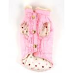 Reversible Pink Puff Vest by Dicken's Closet