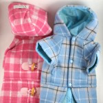 Plaid Hooded Coats for Dogs by Doggie Designer