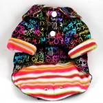 Rainbow Graffiti Dog Jacket