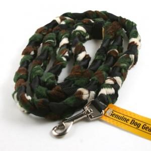 Camo Braided Fur Snap Leash by Genuine Dog