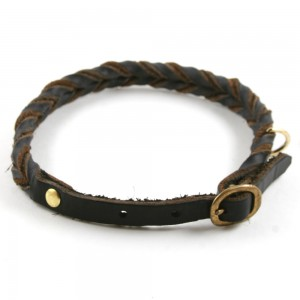 Genuine Leather Hand Braided Collar by Horton's