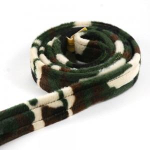 Camo Flat Snap Fur Leash by Genuine Dog