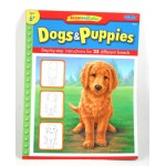 """Dogs and Puppies"" Draw And Color Tutorial Book"